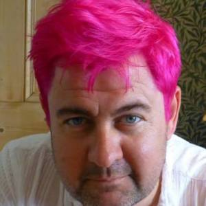 Picture of Fergus McGonigal, with pink hair